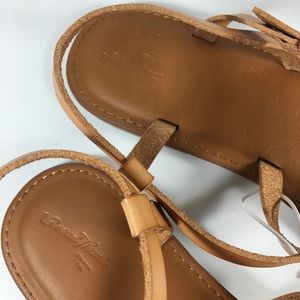 Details about  /Womens Universal Thread Tera Naked Ankle Strappy Sandals Tan
